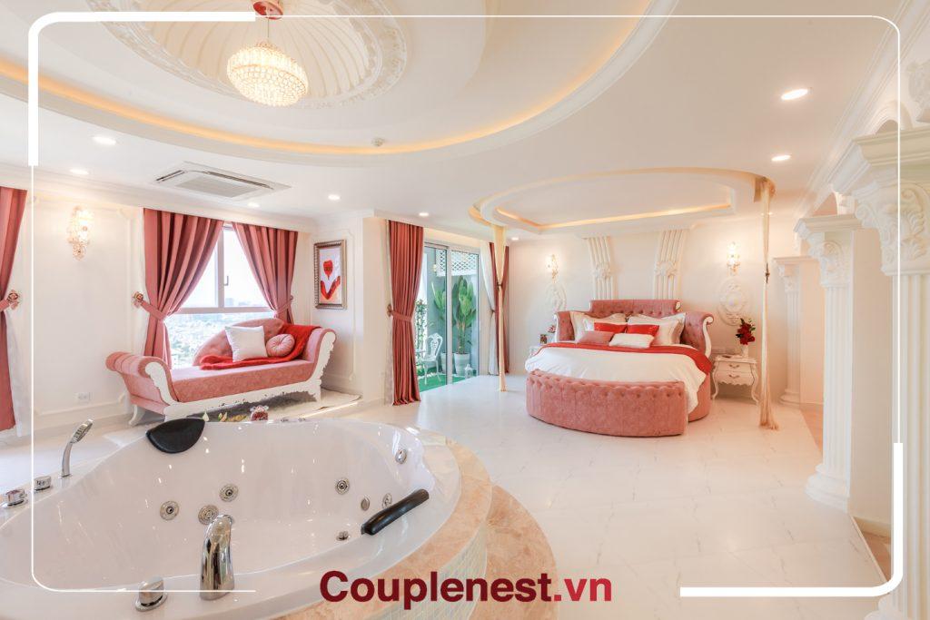 Bồn tắm tại khách sạn Couple Nest