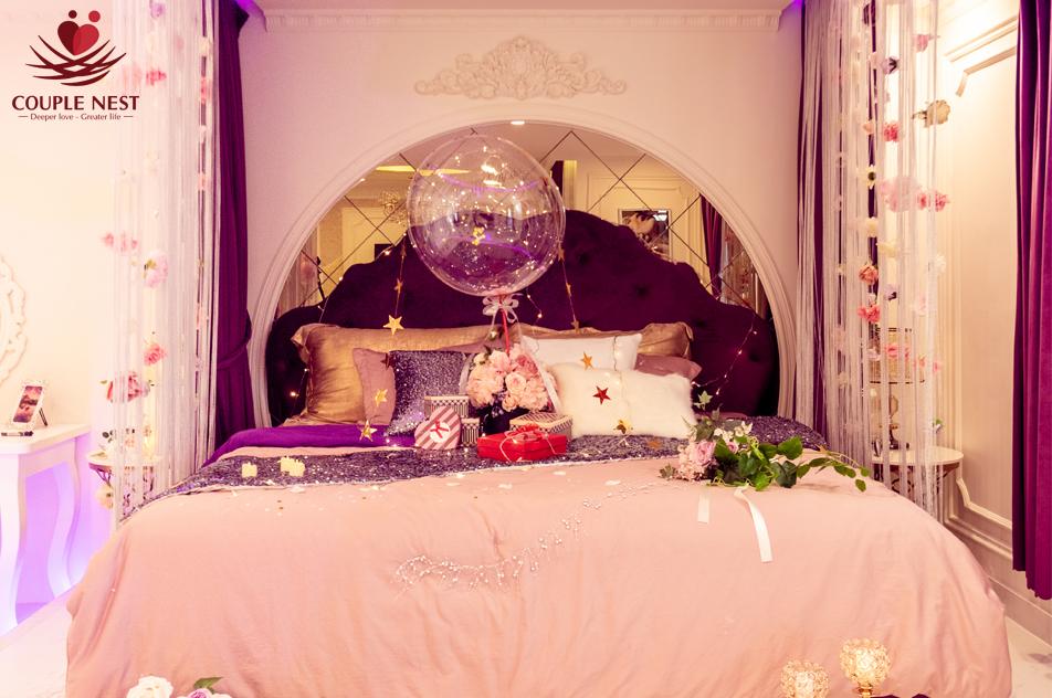 Phong cách trang trí lãng mạn tại căn hộ cho thuê ngắn hạn