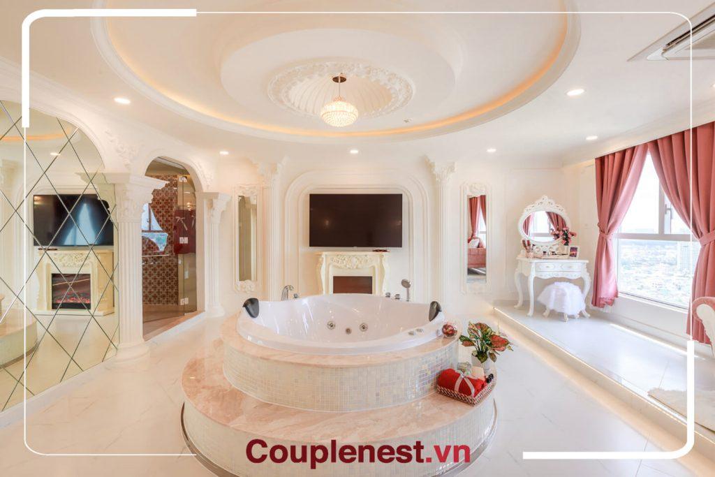 Bồn tắm chính là điểm nhấn tuyệt vời tại căn hộ Couple Nest